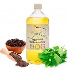 Body massage oil Verana «BLACK PEPPER AND NETTLE»