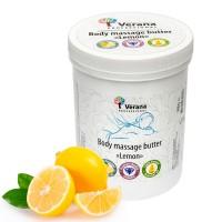 Твёрдое массажное масло для тела Verana Professional «Лимон», 900гр.