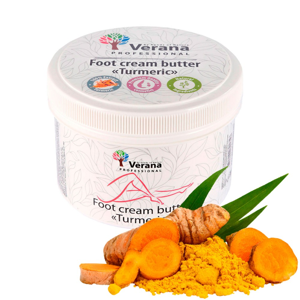 Foot cream butter Verana «TURMERIC»